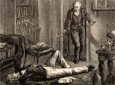 Scottish obstetrician Sir James Young Simpson, unconscious following an experiment with chloroform, in a lithograph by Edwin Hodder, c. 1880. Simpson first tested the anesthetic properties of chloroform on a patient in 1847.    Credit: © Photos.com/Thinkstock