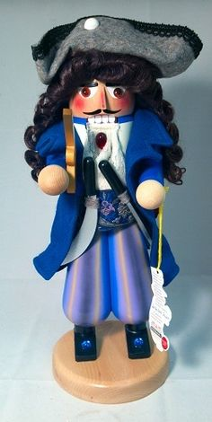 Pirate Captain German Christmas Nutcracker