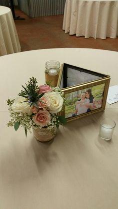 Sweet little centerpiece  from recent wedding.  Suzy, Moonflower Cottage.
