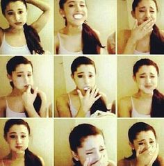 Ariana Grande doing the chubby bunny challenge
