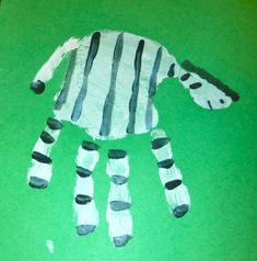 tolle handabdruck bilder   ein schönes zebra