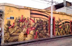 Juxtapoz Magazine - New mural by Jaz in Queretaro, Mexico
