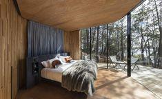 Interior view of Coastal Pavilion at Freycinet Lodge Coastal Pavilions hotel, Tasmania, Australia