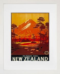 New Zealand Travel Print Poster Wall Art XR139 by Blivingstons, $8.99