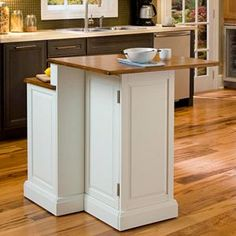 Woodbridge Two Tier Kitchen Island With Stools | Kohls Rustic Country Kitchens, Country Kitchen Designs, Best Kitchen Designs, Design Kitchen, Beautiful Kitchens, Cool Kitchens, Small Kitchens, Kitchen Small, Stools For Kitchen Island