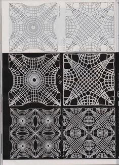 square pattern with diagram chart Crochet Motif Patterns, Crochet Diagram, Crochet Chart, Crochet Squares, Knit Crochet, Diagram Chart, Russian Crochet, Irish Crochet, Crochet Dollies