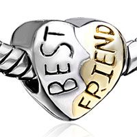 Pugster Heart Shape Silver Plated Style Pandora Beads. Been trying to find this one for a certain someone! :)