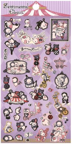 San-x Sentimental Circus Big Top Sticker Sheet