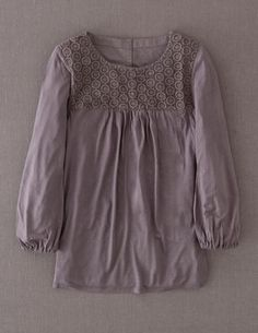 I've spotted this @BodenClothing Broderie Jersey Top Pewter