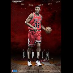 Enterbay RM-1064 Real Masterpiece NBA Collection Chicago Bulls Scottie Pippen 1:6 Action Figure