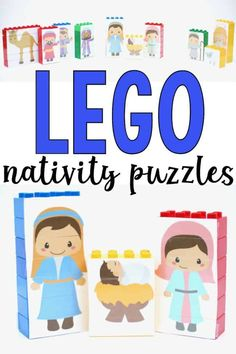 LEGO Nativity Puzzles - I Can Teach My Child! Advent Activities, Activities For Boys, Christmas Activities For Kids, Preschool Christmas, Preschool Ideas, Craft Ideas, Christmas Books, Kids Christmas, Christmas Decor