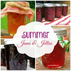 great summer jam and jelly recipes. good for beginners too #canning #homemadejam
