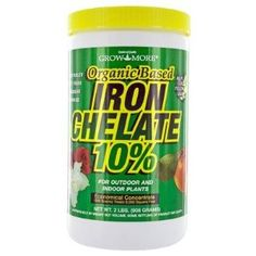 Iron Chelate for those who are having a problem with plants yellowing.