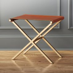 CB2 - August Catalog 2016 - Leather Director's Stool  ENTRY OR END OF BEDS