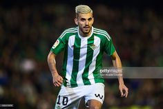 Dani Ceballos of Real Betis Balompie looks on during La Liga match between Real Betis Balompie and Real Sporting de Gijon at Benito Villamarin Stadium on January 22, 2017 in Seville, Spain.