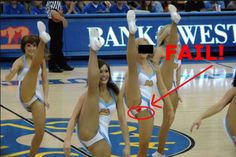 Falls, trips and spills. Some girls should just QUIT the cheer leading business.  http://kingofdafuqfunnies.com/the-most-embarrassing-cheerleader-fails