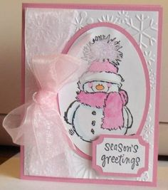 Penny Black Snowman by CandiceL - Cards and Paper Crafts at Splitcoaststampers
