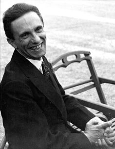 Nazi Propaganda Minister Joseph Goebbels, Geneva, September 1933. Scary to think what he was responsible for.