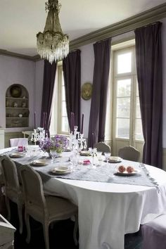 French Chic ♥ Dining Room Shades of lavender