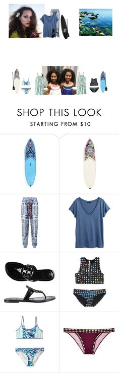 """""""Saturday//paddle boarding"""" by thecollinfamily ❤ liked on Polyvore featuring Surfer Girl, Vera Bradley, Hemant and Nandita, H&M, Tory Burch, Roxy Kids, Victoria's Secret and TheHartFamily"""