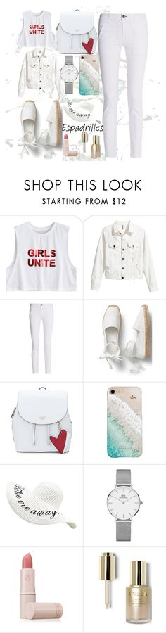"""#Espadriles #Beatch"" by sashacookiecat ❤ liked on Polyvore featuring rag & bone, Gray Malin, Daniel Wellington, Lipstick Queen and Stila"