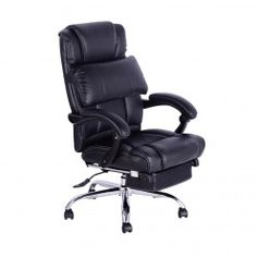 Computer Office Chair Faux Leather PU Chairs Swivel Executive Furniture Black