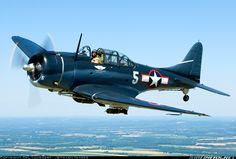The Douglas SBD Dauntless was a World War II American naval scout plane and dive bomber that was manufactured by Douglas Aircraft from 1940 through 1944.