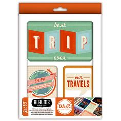 We R Memory Keepers - Albums Made Easy - Journaling Cards - Jet Set at Scrapbook.com