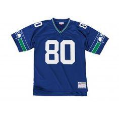 NFL Jersey's Women's Seattle Seahawks Steve Largent College Navy Retired Player Jersey