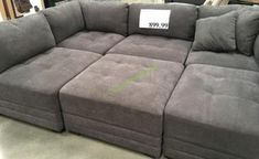 gray sectional sofa costco couch sectional sofa com emerald sofas set leather furniture microfiber Grey Sectional Sofa, Fabric Sectional, Sectional Furniture, Living Room Sectional, Home Living Room, Love Sac Sectional, Couches, Decorating Rooms, Home Theaters