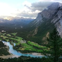 View from Tunnel Mountain hike with @Gavin McGarry yesterday #latergram #cmbanff13