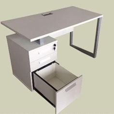 Dfs Designs commercial grade office desk by with a pedistal (white) Draw Slides, Dfs, Modern Desk, Pedestal, Your Space, Office Desk, Corner Desk, Box File, Craft Rooms