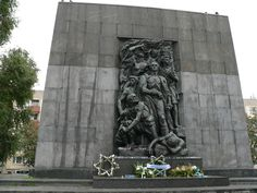 #Monument to the Ghetto Uprising Heroes in #Warsaw #poland.. marble originally brought in by Hitler to build a monument for the 3rd Reich in the Warsaw Ghetto.  So, glad it could be utilized for a proper memorial instead