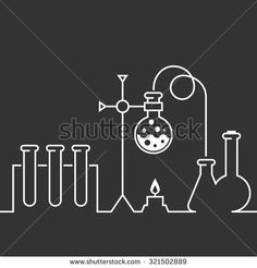 Chemical laboratory with chemistry test-tubes and flasks