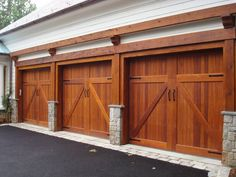 Mahogany garage doors  www.wood-garage-doors.com