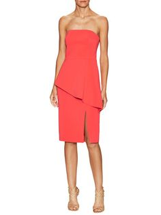 Asymmetrical Flare Peplum Dress by Jay Godfrey at Gilt