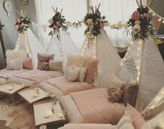 Such a pretty slumber party set up! Such a pretty slumber party set up! Birthday Sleepover Ideas, Adult Slumber Party, Sleepover Room, Sleepover Birthday Parties, Birthday Party For Teens, 13th Birthday, Sleepover Crafts, Girls Slumber Parties, Sleepover Ideas For Teens