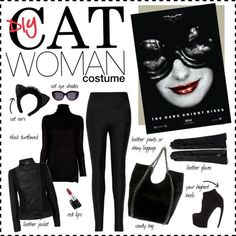 DIY Catwoman Costume - use mask instead of sunglasses