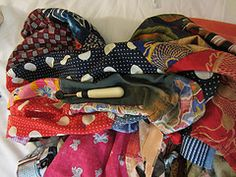 Ugly Shirt, being deconstructed for crazy quilting