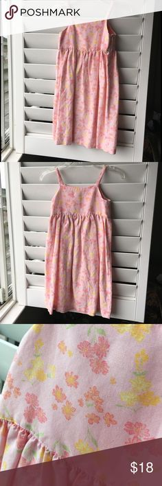 ✨NEW!✨ Super-cute Girls Washable Pink Linen Dress! Spring is here! Pick up this cute dress for your girlie!🌷Gymboree Size Large, 4-5 yrs. Add a soft shirt underneath and make it a jumper or wear it as a sundress with sweet spaghetti straps! This is washable linen 55% and rayon 45% -- machine wash cold and tumble dry low. Gorgeous colors of pinks, some green and yellow, too! 💖💚💛 Amazing quality with perfect topstitching and hidden side zipper. Overall great condition; mild staining on the…