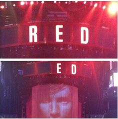OMG when the tour first started someone commented on a picture that they should just turn of the R when Ed is performing and they listened i can't stop laughing