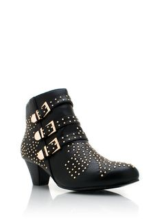 microstud buckle booties. $49. I need to do it, right? I neeeed them, right?