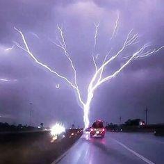 Rare Phenomenon Called '' upward moving '' lightening ~ Photograph By @extremenature