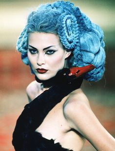 The hair. The piece. McQueen ~ haute couture avant garde.