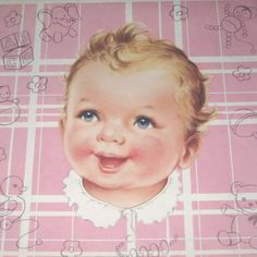 Vintage Pink Wrapping Paper or Gift Wrap with by grandmothersattic