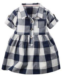 Buffalo Check Shirt Dress | Carters.com
