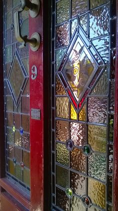 Stained glass door panel rebuilt refitted and full of shine! & Door panel rebuilt by Diomo Glass. It sparkles once again! | j glass ...