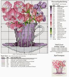 April Sweetpeas ¤ flowers in cup