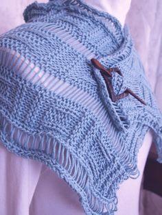Dropped Plaid PDF Hand Knit Scarf Pattern by KnitChicGrace on Etsy, $6.00