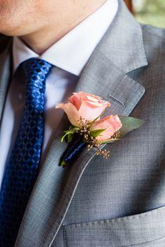 Coral and Blue Summer Wedding by Debra Gulbas Photography - KnotsVilla